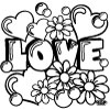 127 Love Coloring Page