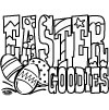 420 Easter Goodies Coloring Page