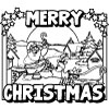 428 Christmas Santa Roof  Coloring Page