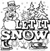 434 Let it Snow Coloring Page